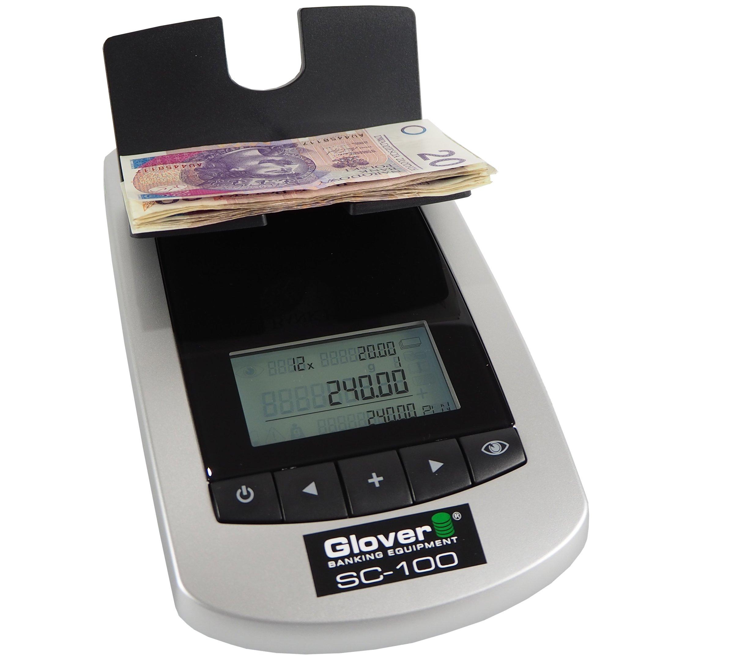 Glover SC100 Hmotnosť pre bankovky a mince