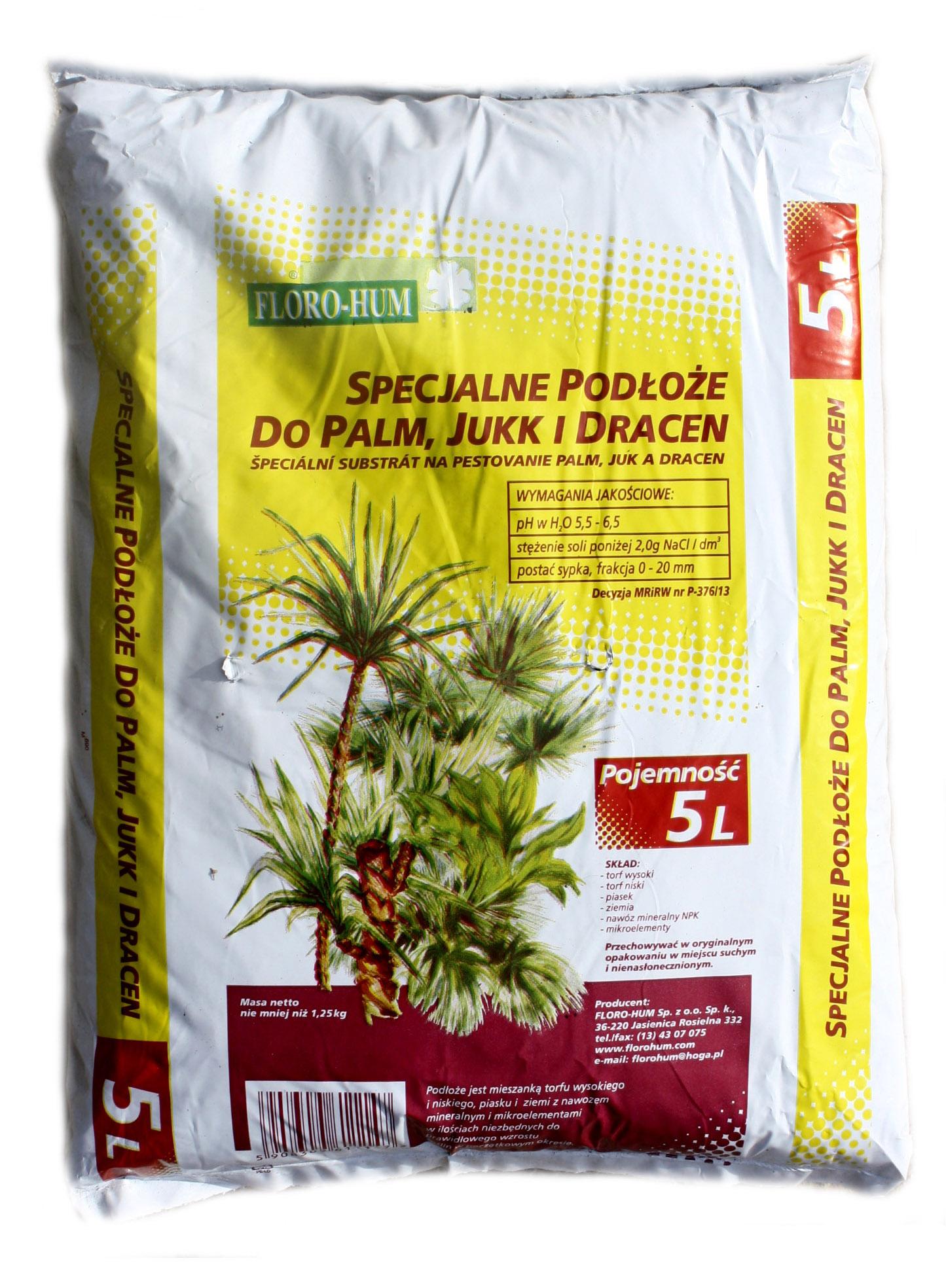 Florohum Land Substrát pre Palm Jukk a Dracea 5 l