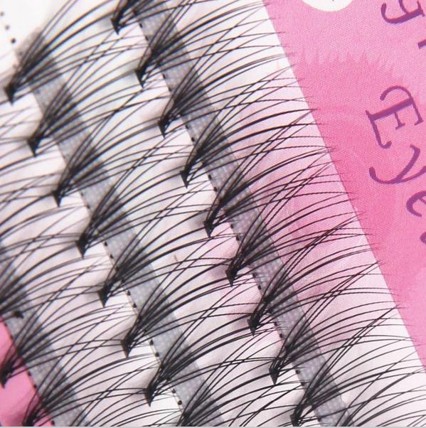 Пучки Ресниц Натуральные Шелковые Плотные 12 мм 60 шт