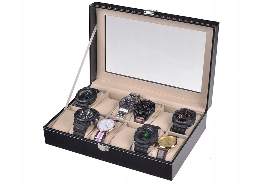 Item ELEGANT BOX FOR 12 HOURS ECO-LEATHER SUEDE