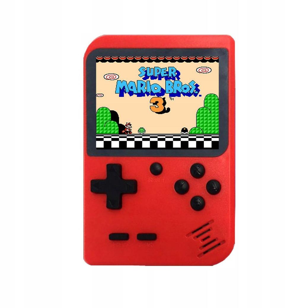 Mini ručná konzola Retro 168 Games - červená