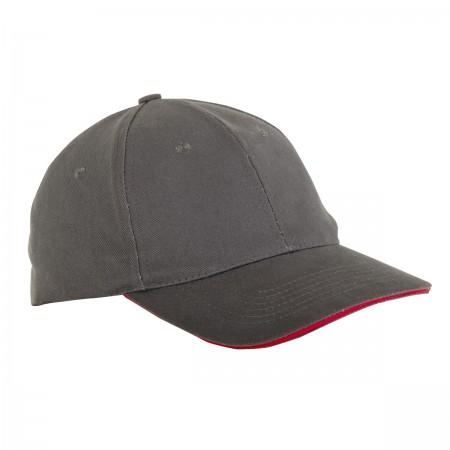 Lahti Pro Baseball Cap L18143 sivá