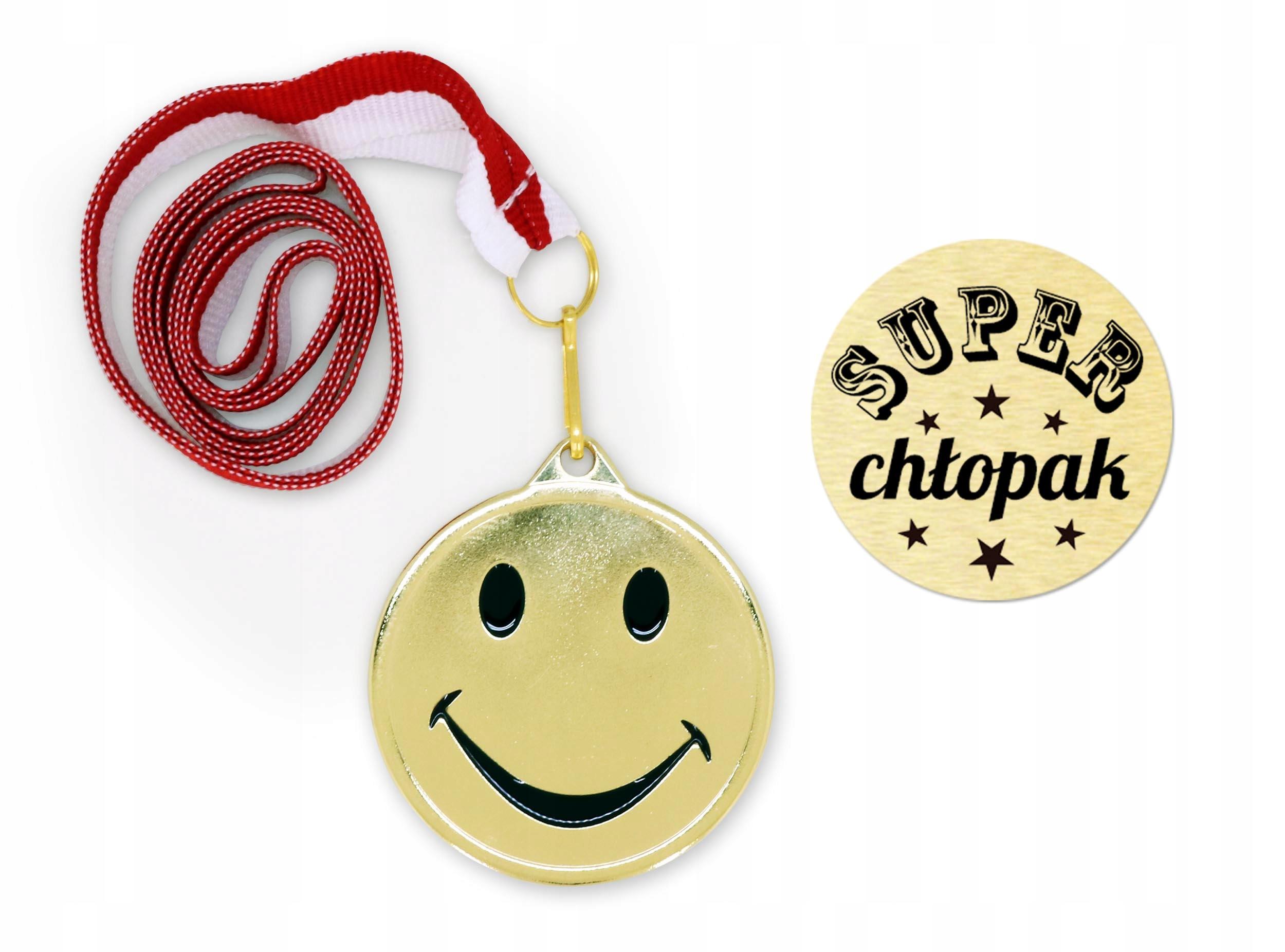 Medal Emotka Prezent Dzien Chlopaka Szkola 7533110731 Allegro Pl