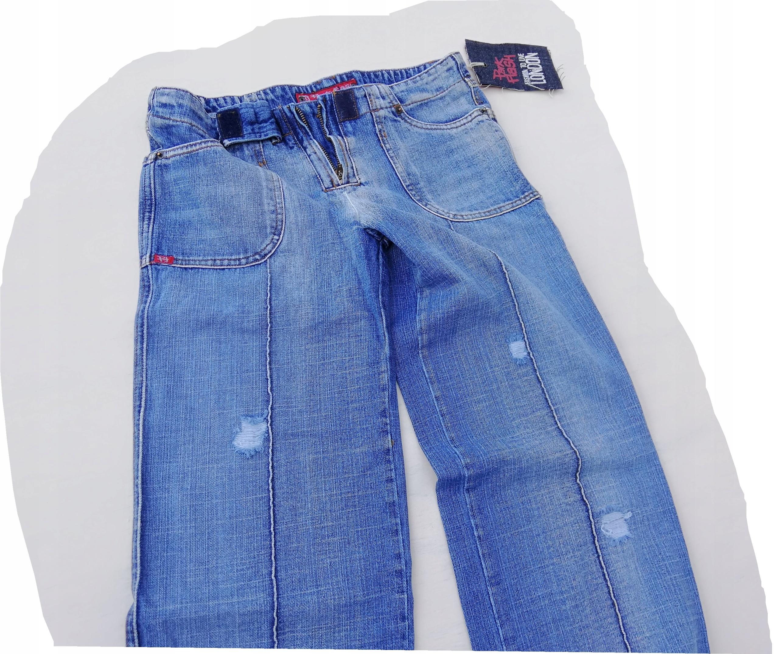 spodnie jeans damskie PARK FLASH dziury przetarcia