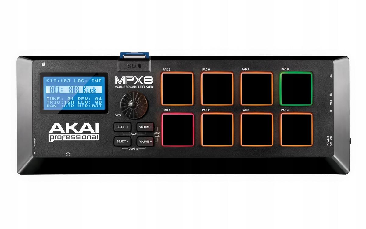 AKAI MPX8 - Mobilný prehrávač vzoriek pre karty SD