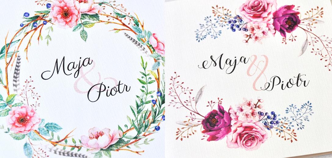 ZAPROSZENIA Ślubne, Na Ślub, Geometryczne, Piękne
