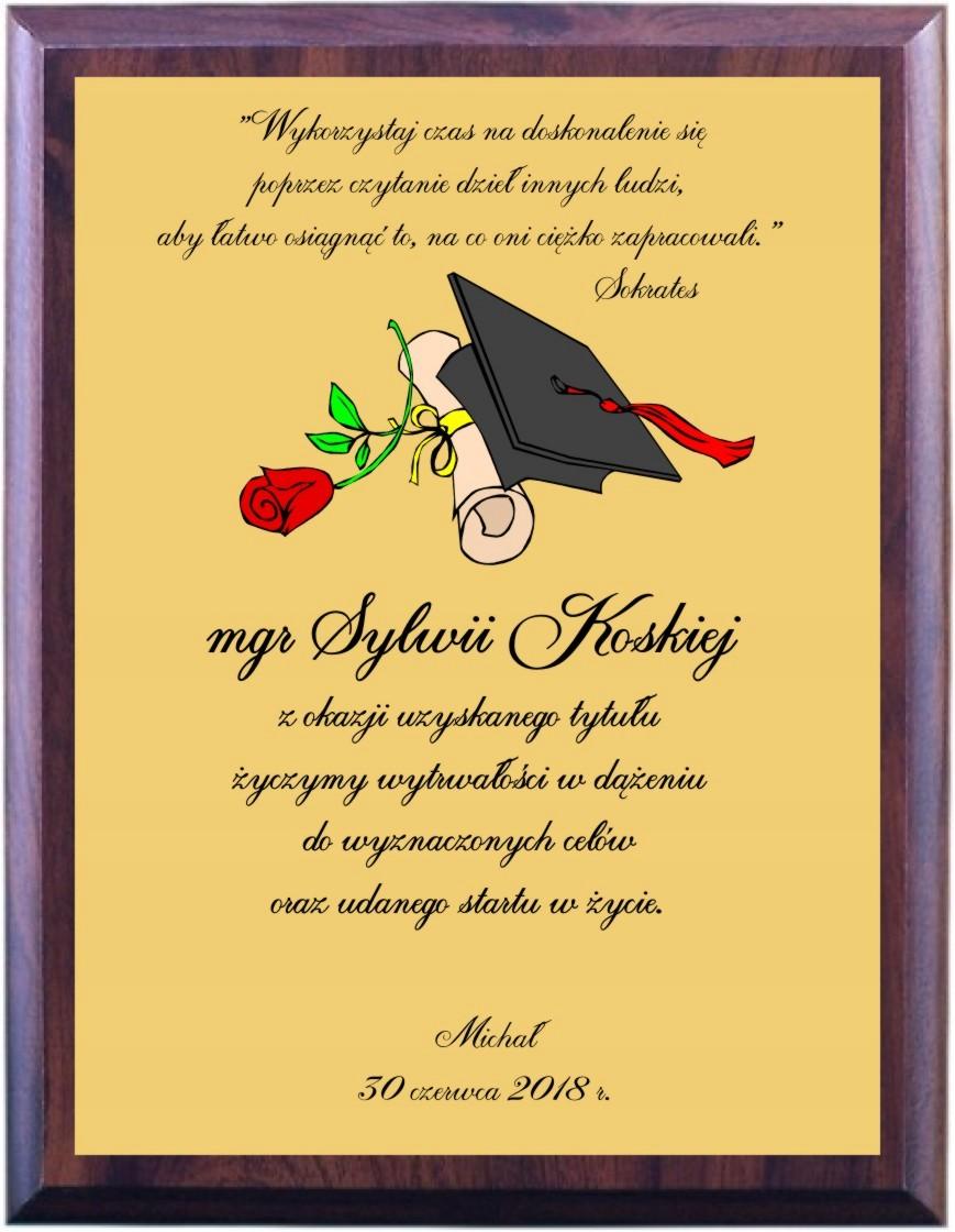 Dyplom Magistra Gratulacje Magister Prezent Mgr 7424643701 Allegro Pl