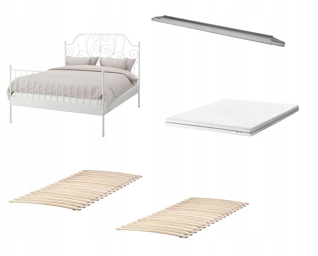 Ikea Rama łóżkadnomaterac Leirvik 140x200 łóżko