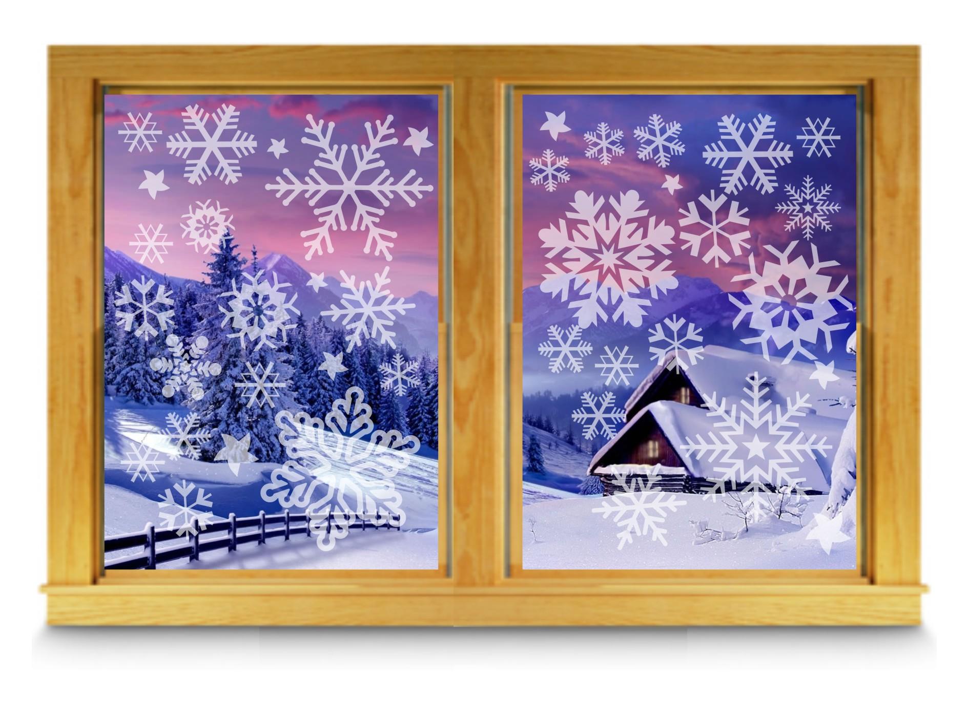 Samolepiaca snehová vločka - mrazený sklenený efekt!