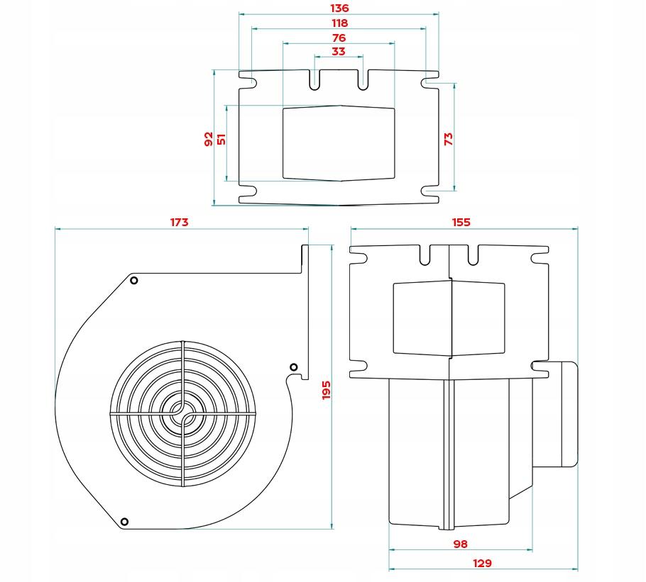 FÚKAČ pre pec kotlovej pece CH 120 DOMER Typ pece dvojfunkčná dvojfunkčná s nádržou na teplú úžitkovú vodu jednoúčelová spaľovacia komora
