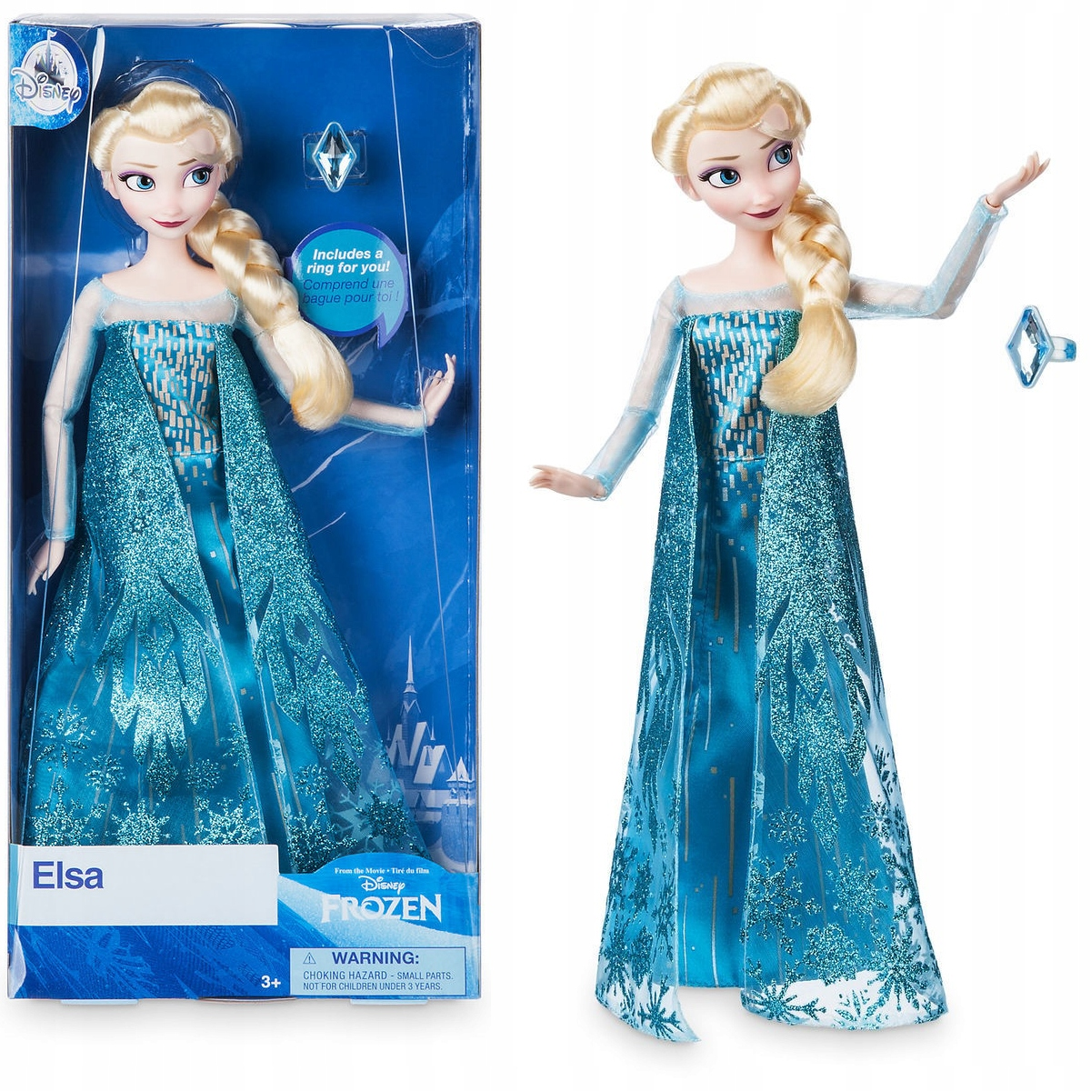 Elsa Frozen Kraina lodu 2018 Disney Pierścień 24h