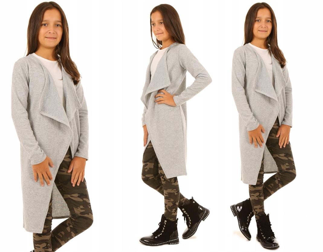 Длинный свитер, кардиган - 152-158 DOT KROPEK
