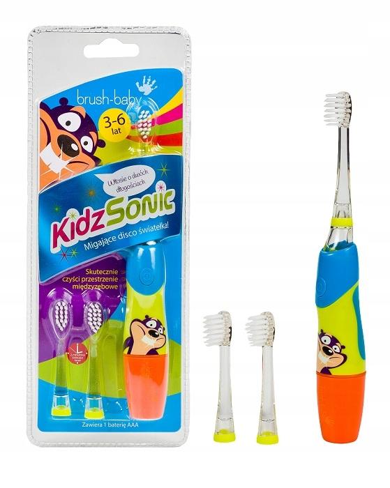 Brush-Baby KIDZSONIC зубная щетка sonic 3-6 лет