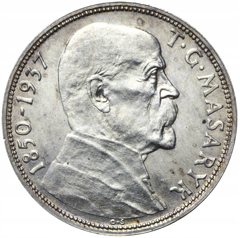 Československo - Silver - 20 Kronon 1937 - Masaryk