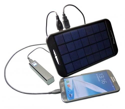 Ťava-prenosná solárna nabíjačka 3W/ 5V 2 x USB