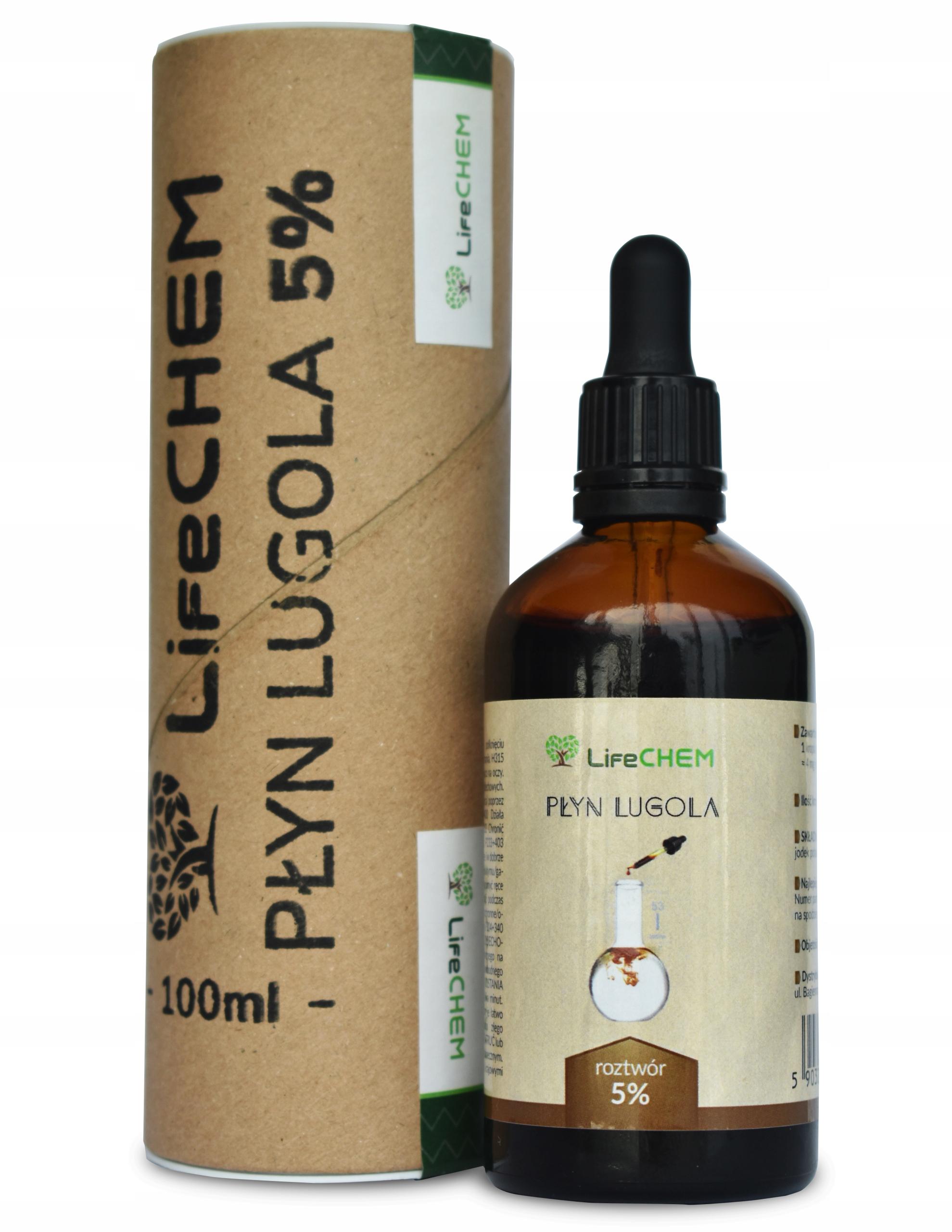 Item The liquid Lugol's solution 5% 100 ml - IODINE Pure ar ar - LifeCHEM