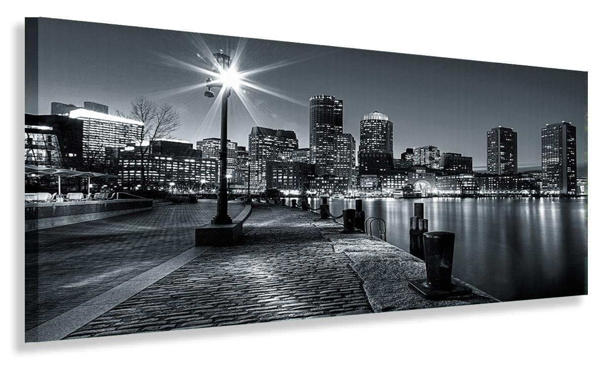 Maľba Panorama City v noci 120x50 obrázky plátno