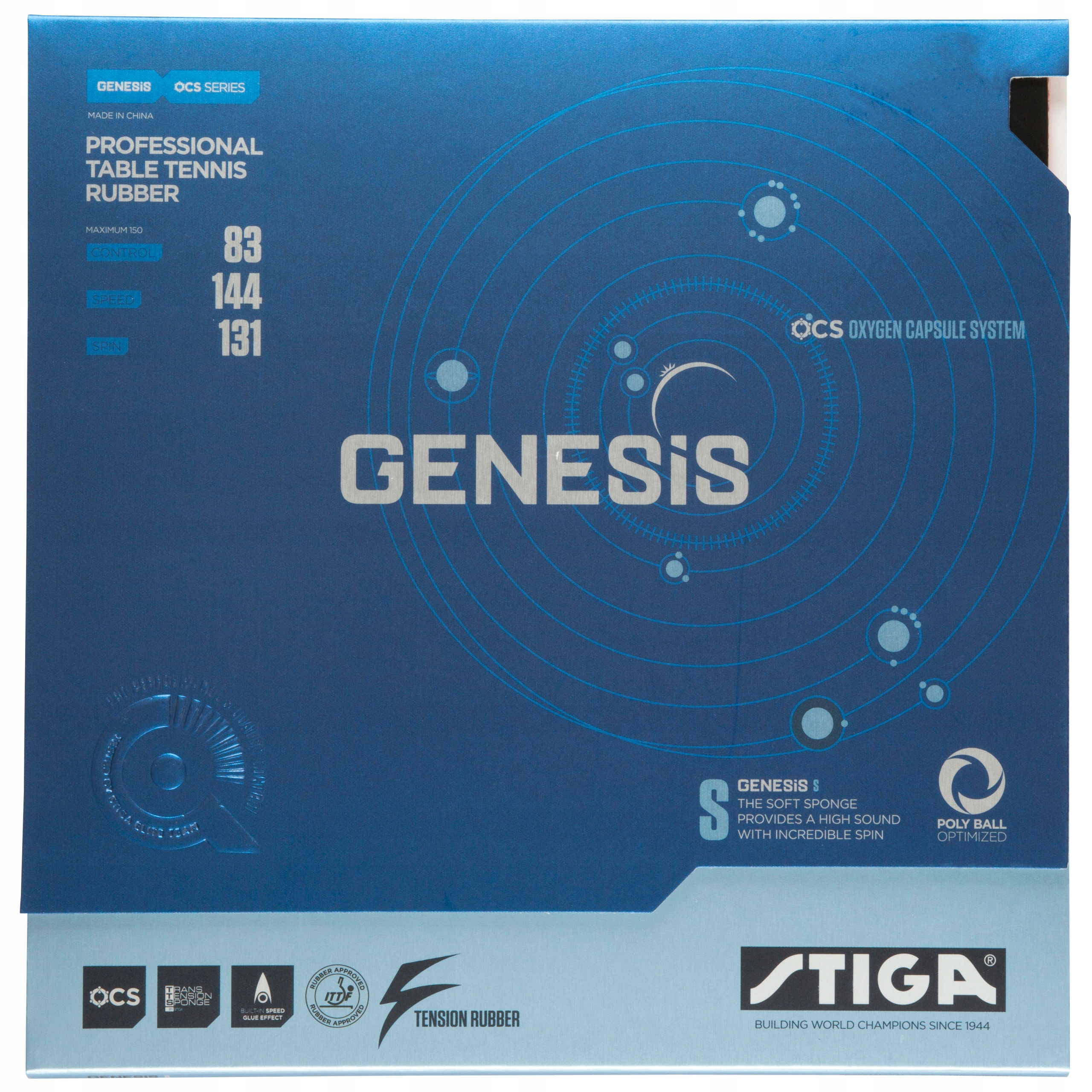 Купить Накладка STIGA GENESIS S-2,0 мм черная на Otpravka - цены и фото - доставка из Польши и стран Европы в Украину.