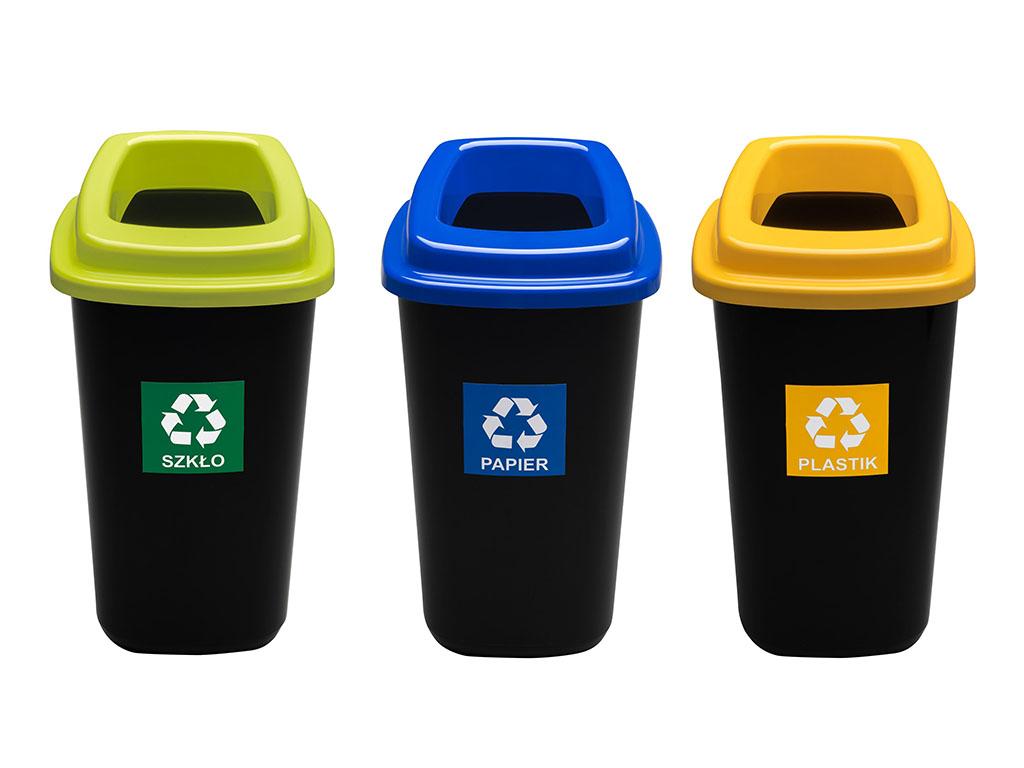 НАБОР 3x28L корзина для сортировки мусора и отходов