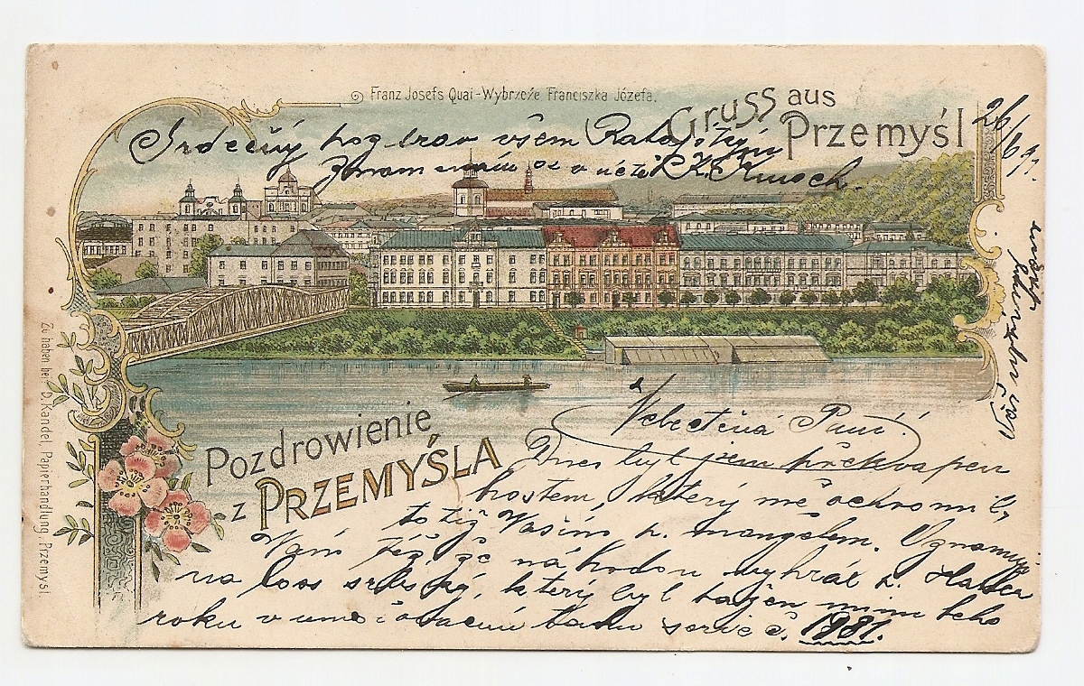 PRZEMYŚL -GRUSS AUS PRZEMYŚL -litografia 1899