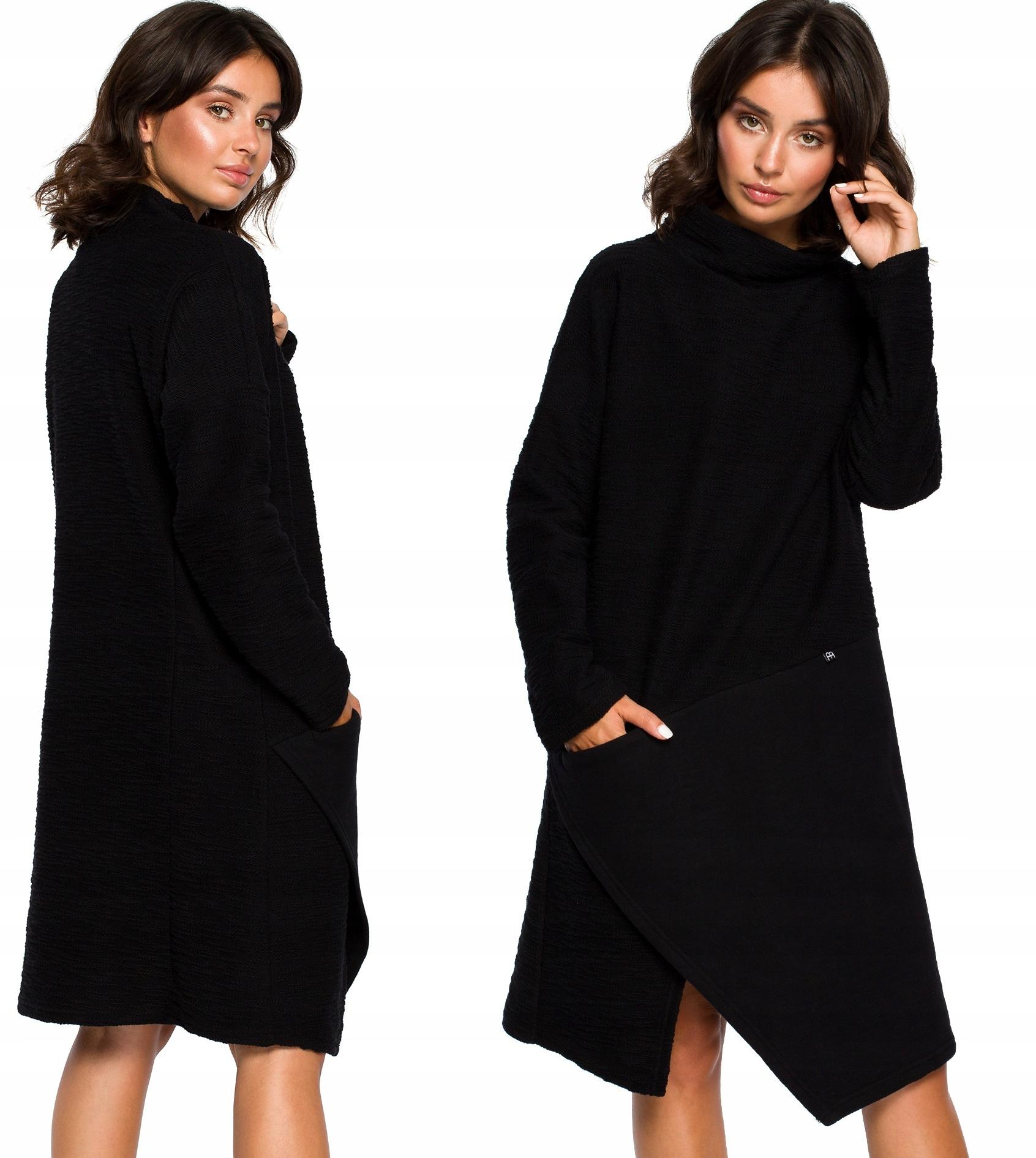 Dresowa Sukienka Luźny Fason Oversize Golf 2XL/3XL