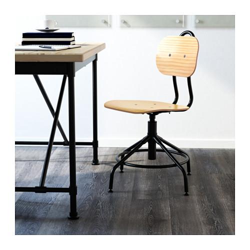 IKEA KULLABERG Krzesło obrotowe czarnysosna