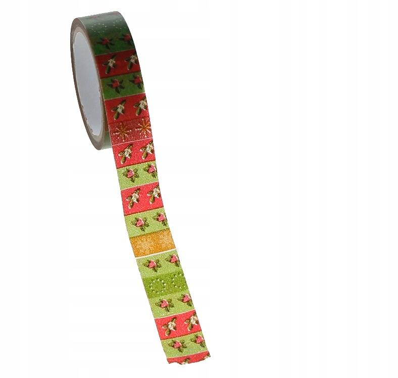 Купить [ś07365] Лента washi tape красный цветы 10м на Otpravka - цены и фото - доставка из Польши и стран Европы в Украину.
