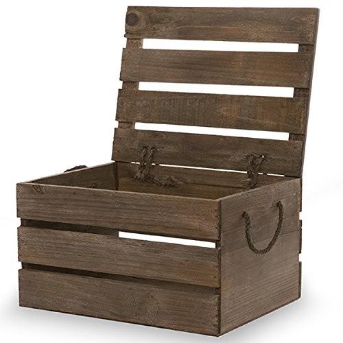 Drevený box s vekom batožinového priestoru box Vintage