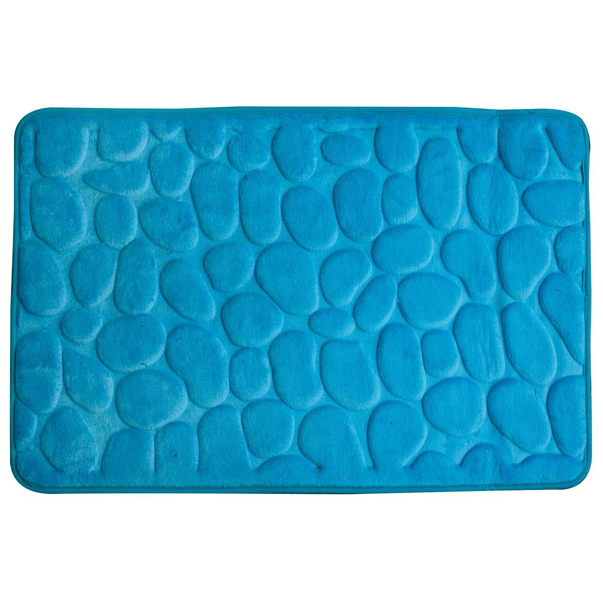 Super mäkká kúpeľňa koberec 60x95 3D tyrkysové