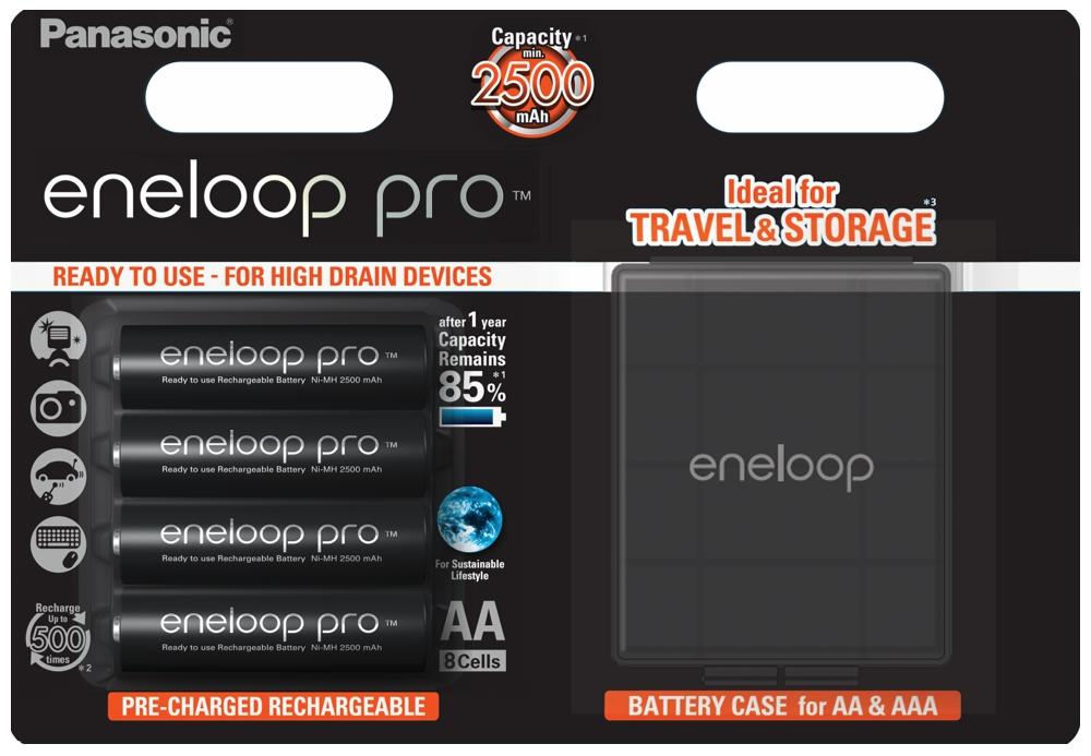 4x Panasonic ENLOOP PRO R6 / AA 2500 MAH + BOX