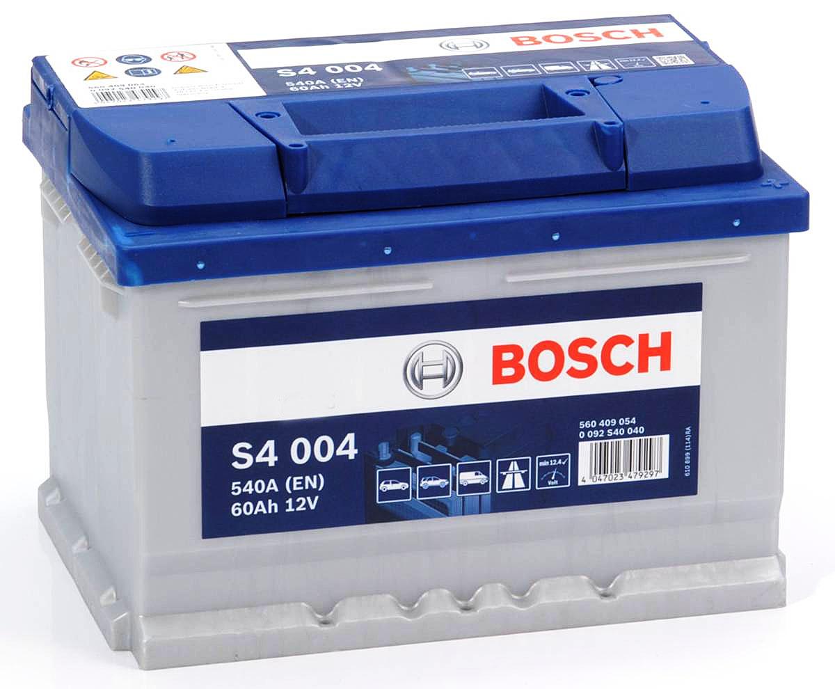 аккумулятор bosch s4 60 ах 540a 60ah