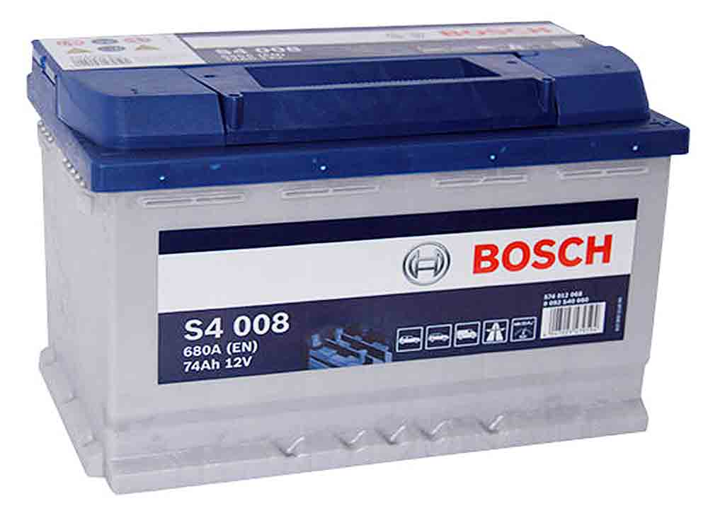 аккумулятор bosch s4 74ah 680a s4008