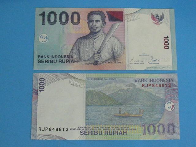 Индонезия 1000 рупий 2007 UNC P-141 банкнота