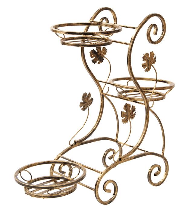 Kvetinový kovový stojan na 3 kvety 76 cm 172