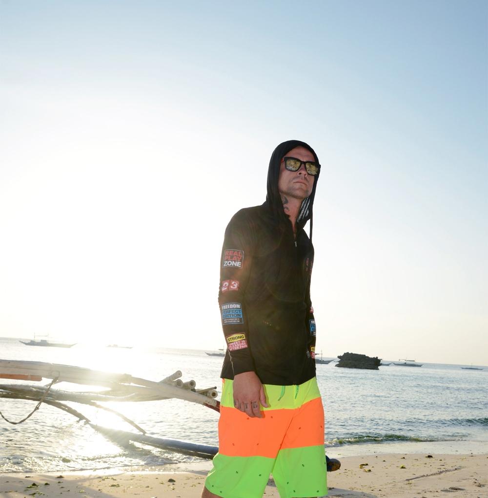 Boardshorty Koruna Žltá-Pomarań-Ziel UNISEX ruží.36