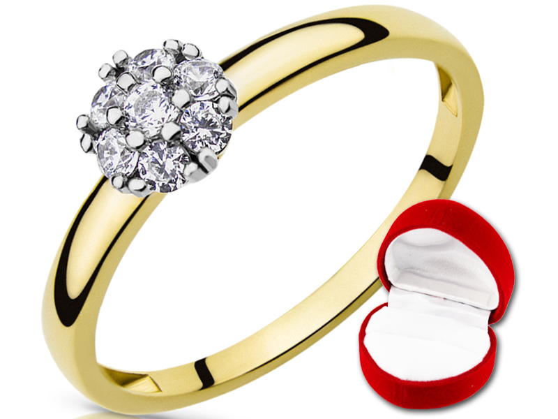 Klasyczny Złoty Pierścionek na Zaręczyny pr.585r14