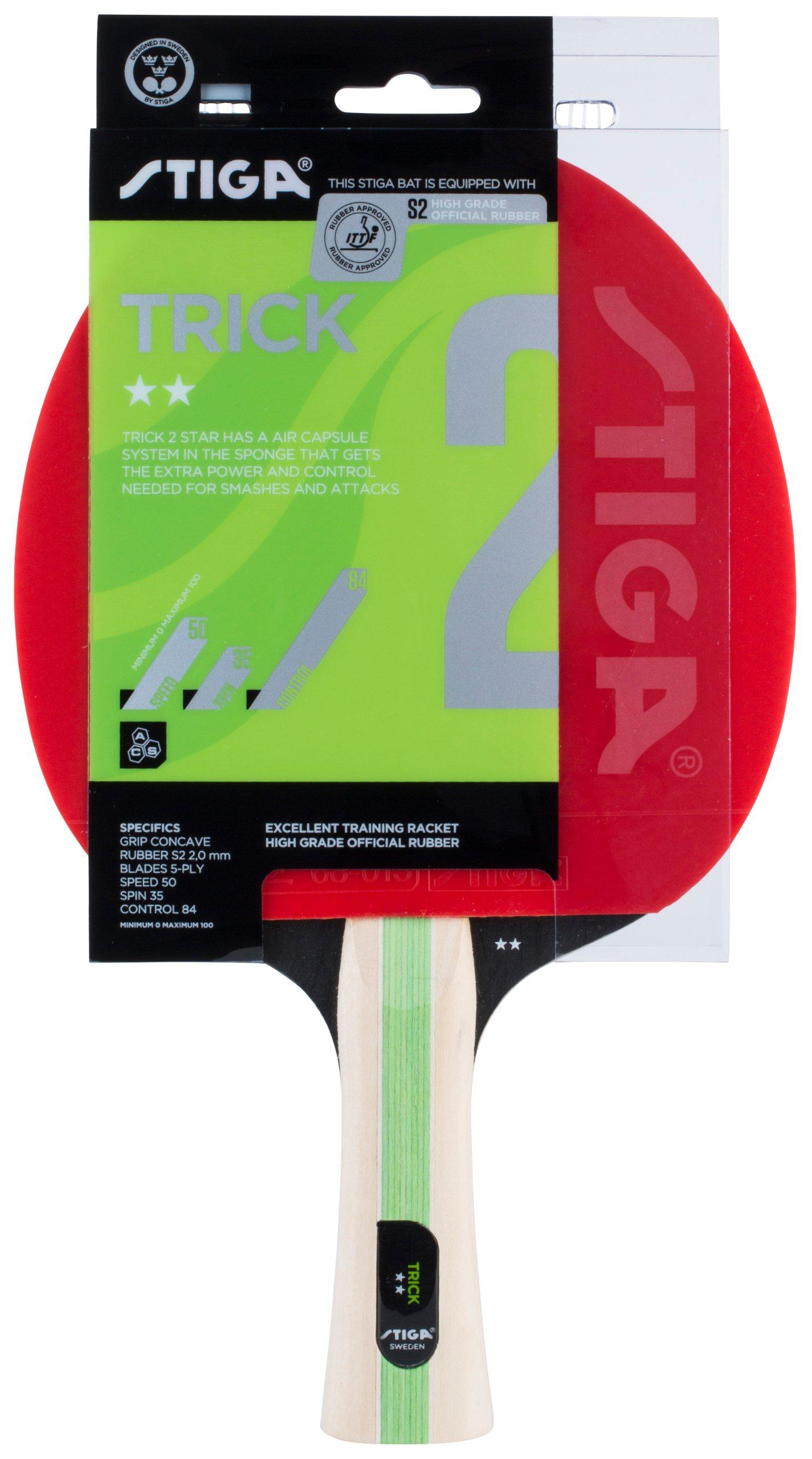 Ракетка STIGA TRICK **, настольный теннис, пинг-понг
