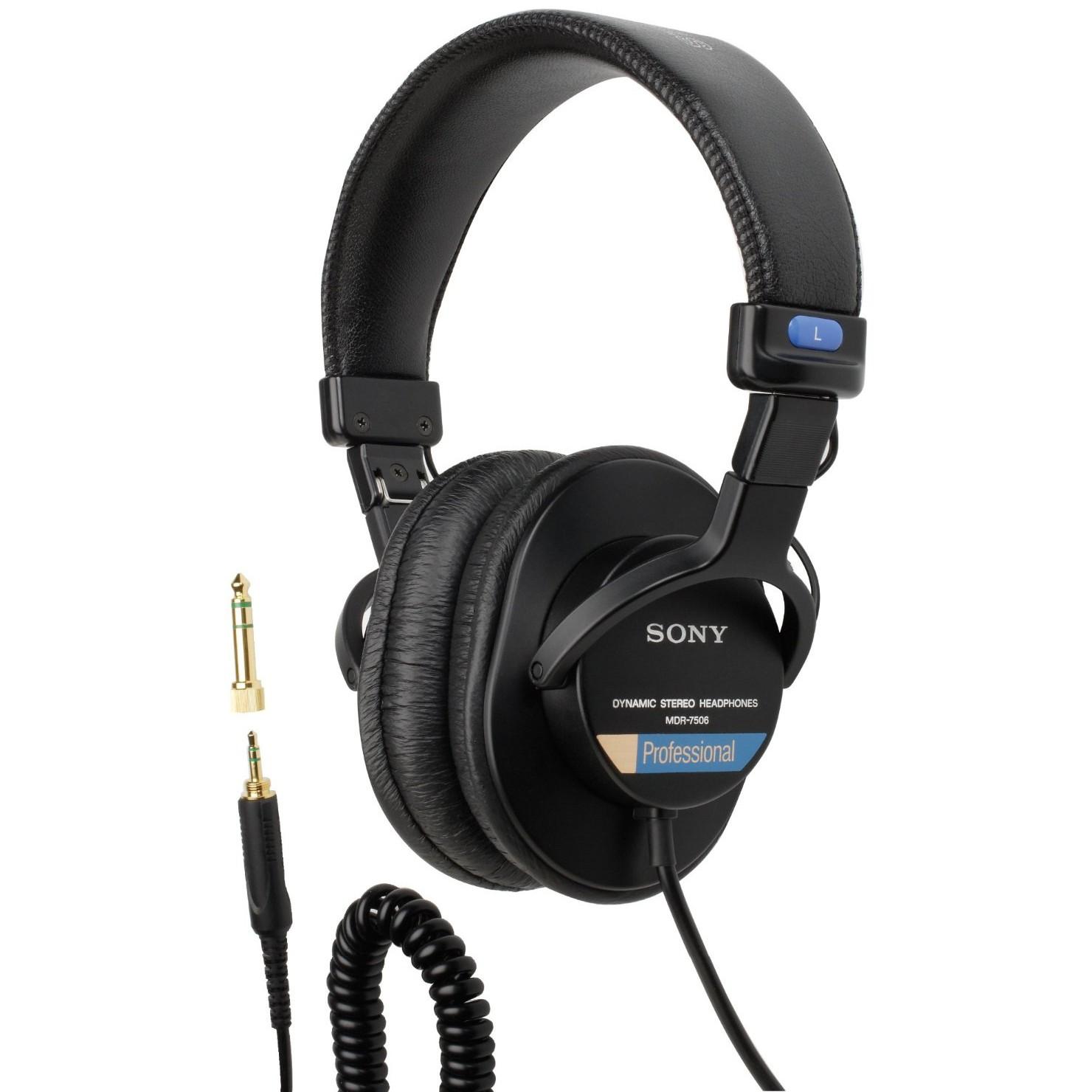 Item SONY MDR-7506 STUDIO HEADPHONES-CLOSED, NEW