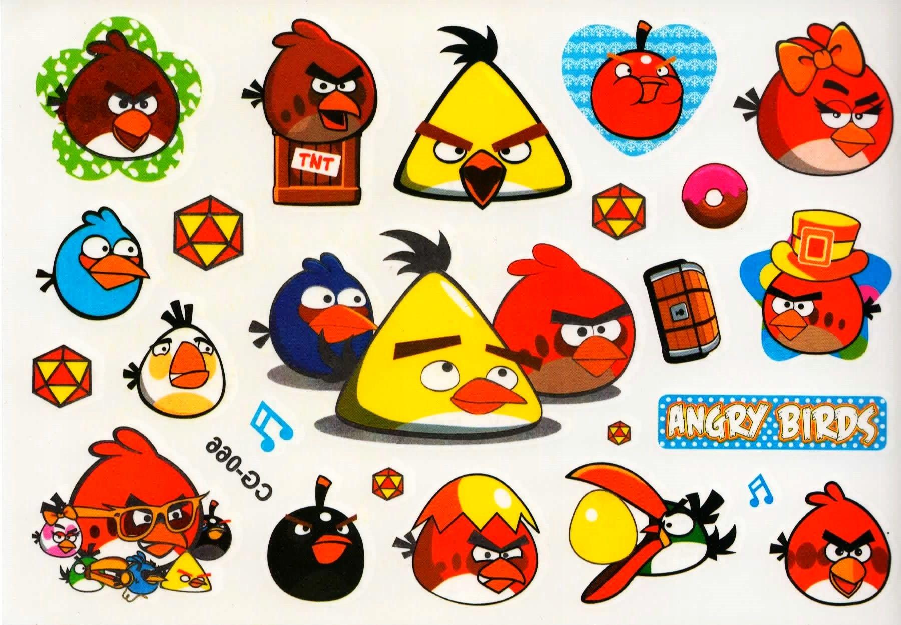 Tatuaze Zmywalne Czasowe Dla Dzieci Angry Birds 7763718914 Allegro Pl