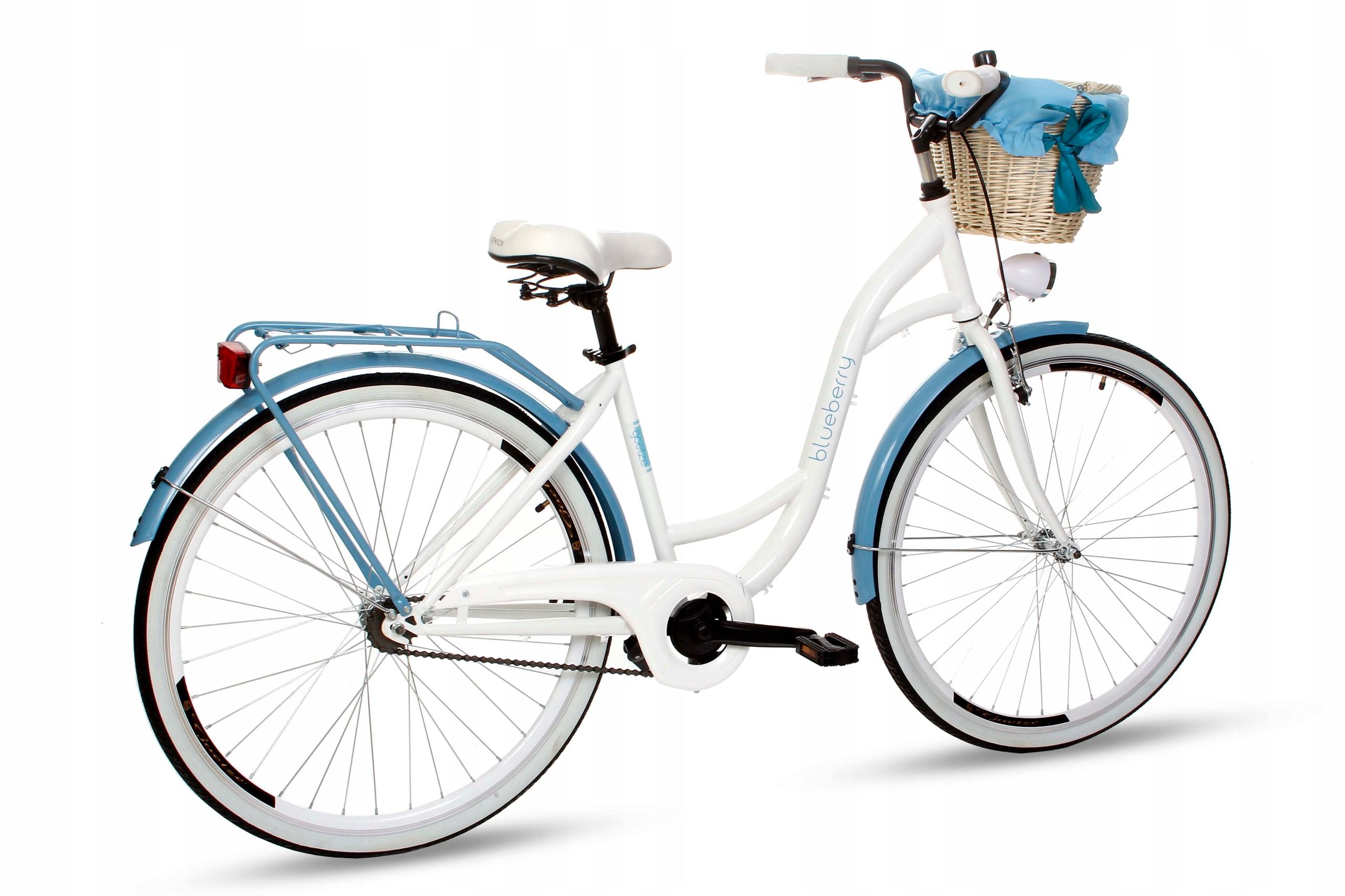 Dámsky mestský bicykel Goetze BLUEBERRY 28 košík!  Materiál rámu oceľ