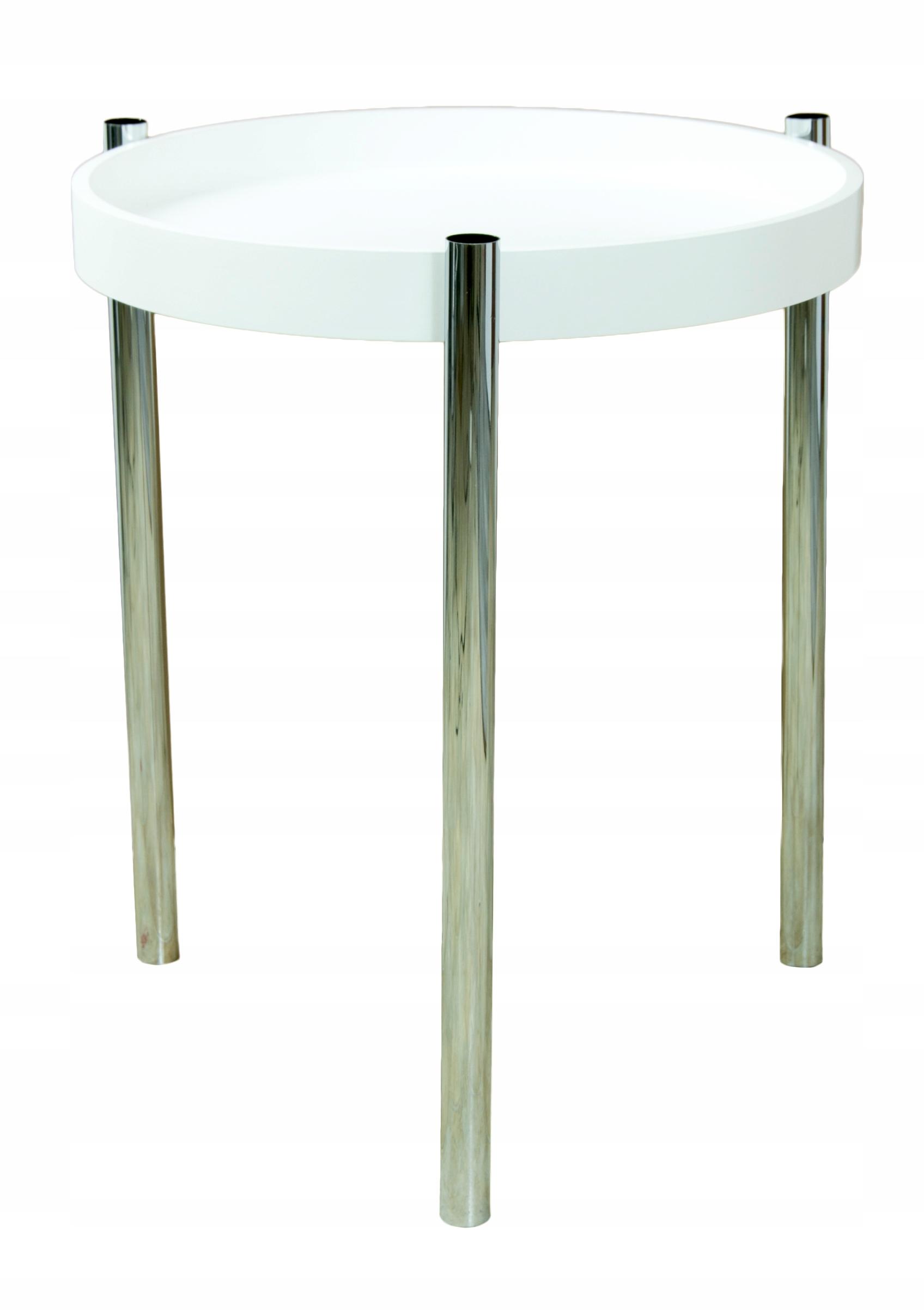 Stolová stolička pre Salon Metal / Wood White 50cm