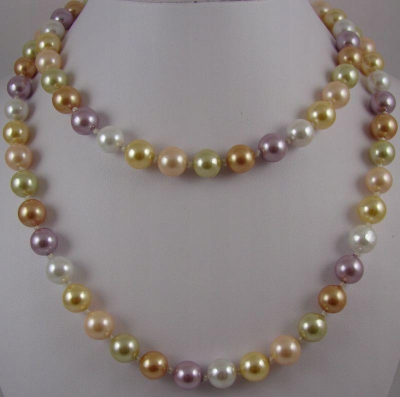 Pastelové náhrdelník MALLORCA pearl 140 cm