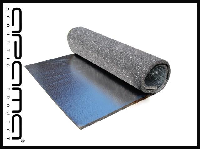 Изоляция плотная, с клеем и алюминия 10 мм APAMA
