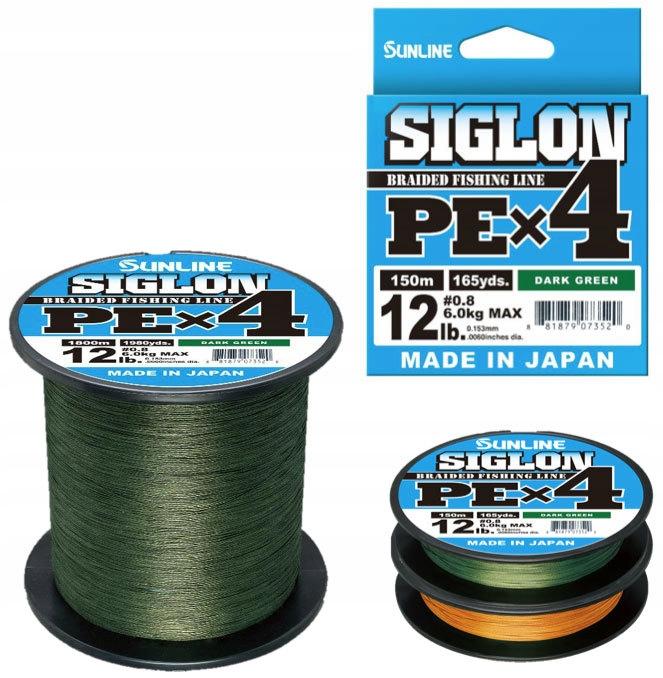 Sunline Siglon 4x PE #0.3 Zelená Super PE 150m