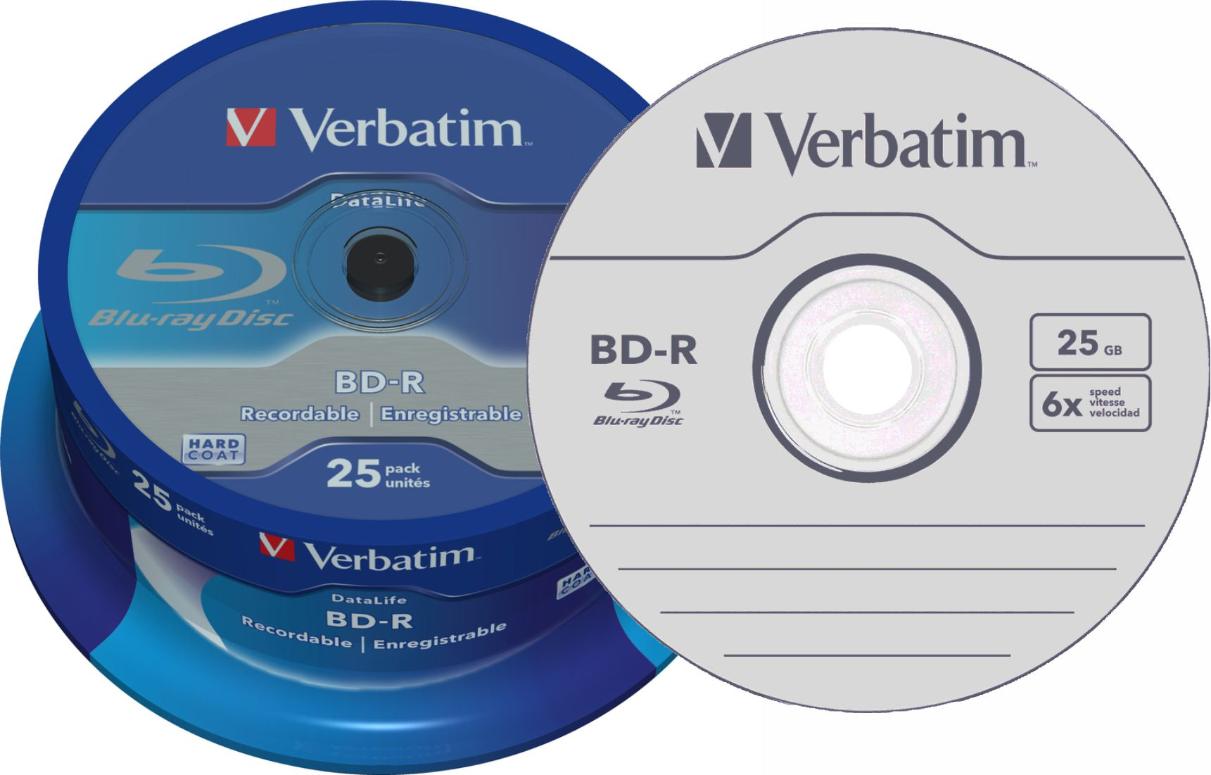 Item BD-R Blu-Ray 25GB x6 25 PCs Verbatim