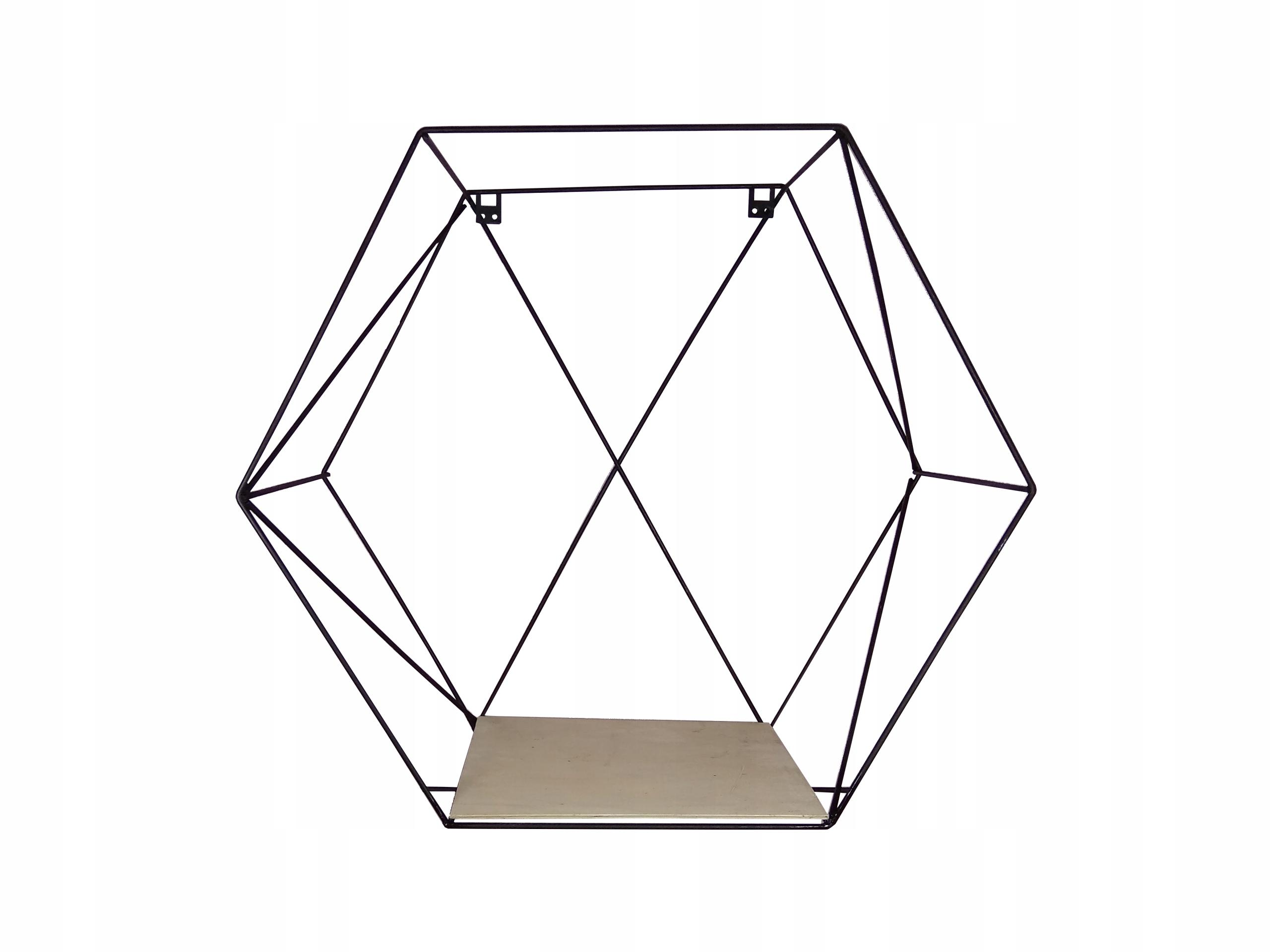 Półka Druciana Wisząca Z Drutu Industrial Hexagon