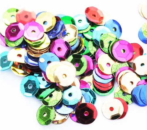 CEKINES CIRCLES BROKE 6mm 15 gramov 1200 ks 41 Farby