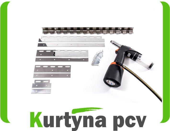 Zawiesie mocowanie INOX do KURTYNY PCV 120 cm kpl.