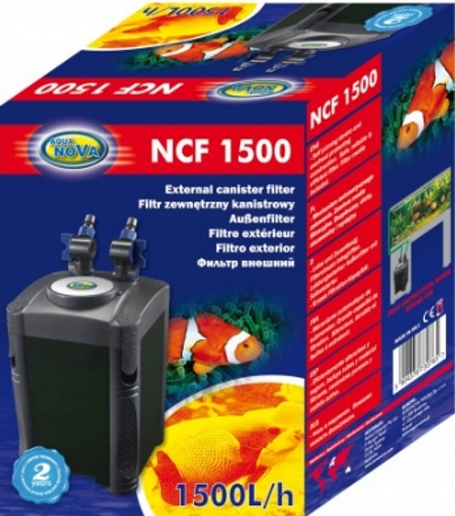 AQUA NOVA внешний Фильтр kubełkowy NCF-1500 500L