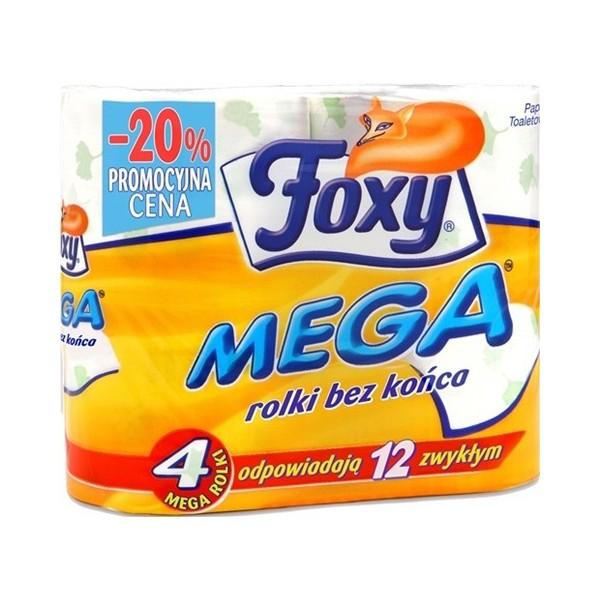 FOXY PAPIER TOALETOWY MEGA 4 ROLKI JAK 12!